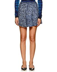 Proenza Schouler - Fringed & Pleated Abstract-print Crepe Miniskirt - Lyst
