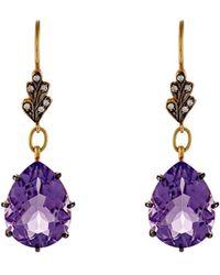 Cathy Waterman - Mixed Gemstone Drop Earrings - Lyst