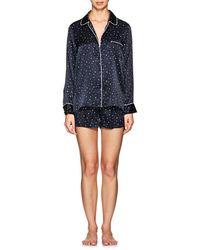 Barneys New York - Star-print Silk Pyjama Set - Lyst