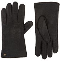 Gucci - Grained Leather Gloves - Lyst
