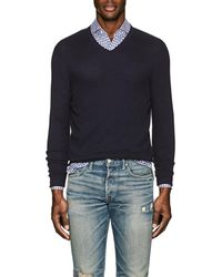 Loro Piana - Textured Cotton-blend V - Lyst