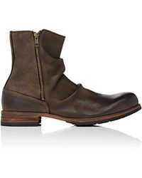 Shoto - Wrinkled Double-zip Boots - Lyst