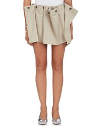 Y. Project - Pleated Cotton Twill Miniskirt - Lyst