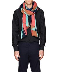 Lovat & Green - Striped Cotton Voile Scarf - Lyst