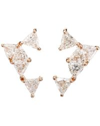 Nak Armstrong - White Diamond Stud Earrings - Lyst
