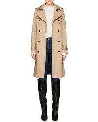 Saint Laurent - Twill Belted Trench Coat - Lyst