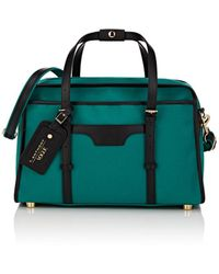 T. Anthony - Leather-trimmed Canvas Tote Bag - Lyst
