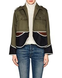 Harvey Faircloth | Cotton, Suede, & Wool Colorblocked Jacket | Lyst