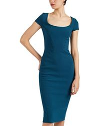 Zac Posen Stitch-detailed Crepe Sheath Dress