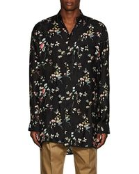 Haider Ackermann - Floral Polished Twill Pyjama Tunic - Lyst