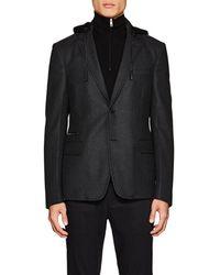 Prada - Compact Wool Twill Hooded Sportcoat - Lyst