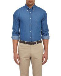 Brunello Cucinelli - Chambray Shirt - Lyst
