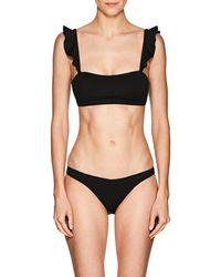 Suboo - Ruffle Ribbed Bikini Top - Lyst