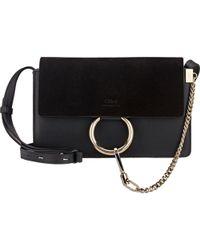 Chloé | 'small Faye' Leather Shoulder Bag - Metallic | Lyst