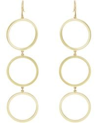 Jennifer Meyer - Three-open-circle Drop Earrings - Lyst