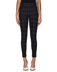 T By Alexander Wang - Plaid Skinny Cotton Twill Trousers Size 4 - Lyst