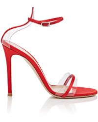 Gianvito Rossi - G String Satin & Pvc Sandals - Lyst