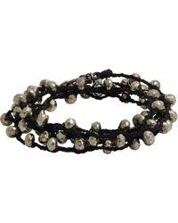 Feathered Soul - Pyrite Bead & Braided Silk Wrap Bracelet - Lyst