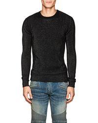 Balmain - Metallic Rib-knit Sweater - Lyst