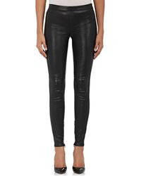 Saint Laurent - Leather Leggings - Lyst