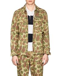 Rag & Bone - Flight Camouflage Cotton Twill Shirt Jacket - Lyst