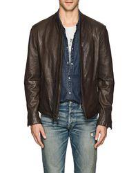 John Varvatos - Leather Racer Jacket - Lyst
