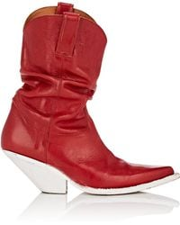 R13 - Slouchy Leather Cowboy Boots - Lyst