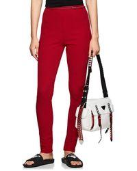 Prada - Logo-waistband Rib-knit Leggings - Lyst
