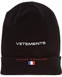 Vetements - haute Couture Wool Beanie - Lyst