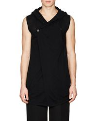 Rick Owens - Hooded Virgin Wool Sleeveless Cardigan - Lyst