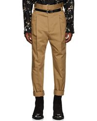 Haider Ackermann - Pleated High-rise Slim Trousers - Lyst
