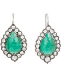 Cathy Waterman - Emerald Lace-edged Earrings - Lyst