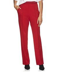 Prada - Logo-waist Tech-jersey Wide-leg Trousers - Lyst