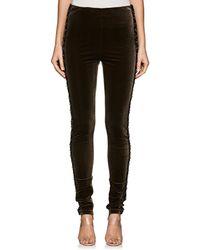 Koche - Embellished Velvet Skinny Pants - Lyst