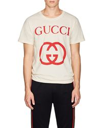 227d1112 Gucci Graphic Cotton Jersey T in White for Men - Lyst