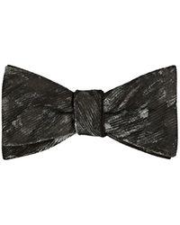 Title Of Work - Brushstroke-pattern Silk Faille Bow Tie - Lyst
