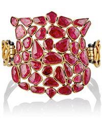 Judy Geib - Ruby Shield Bracelet - Lyst