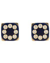 Mark Davis - Bakelite & White Diamond Stud Earrings - Lyst