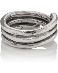 Emanuele Bicocchi Mens Sterling Silver Wrap Ring JKDVjcmrA