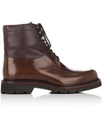 Cartujano España - Leather Combat Boots - Lyst