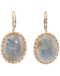Zoe - Sapphire & Diamond Drop Earrings - Lyst
