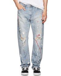 Edwin - Paint-splatter Straight Jeans - Lyst