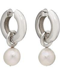 AGMES - Josephine Hoop Earrings - Lyst