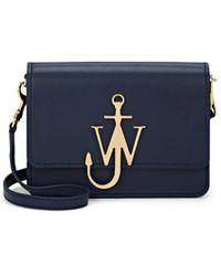 JW Anderson - Logo Mini Leather Crossbody Bag - Lyst