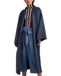 Loewe Wool-cashmere Melton Belted Wrap Coat