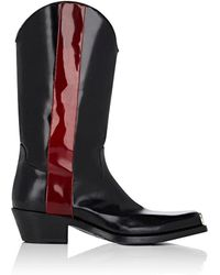 CALVIN KLEIN 205W39NYC - Spazzolato Leather Cowboy Boots - Lyst