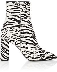 Saint Laurent - Betty Calf Hair Ankle Boots - Lyst