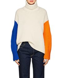 Tomorrowland - Colorblocked Wool Turtleneck Sweater - Lyst