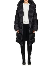 Rick Owens - Down Hooded Puffer Coat - Lyst