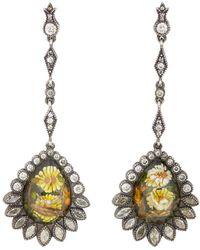 Sevan Biçakci - Daisy & Turtle Dove Intaglio Drop Earrings - Lyst